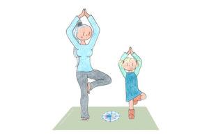 juf-en-mila-op-yogamat
